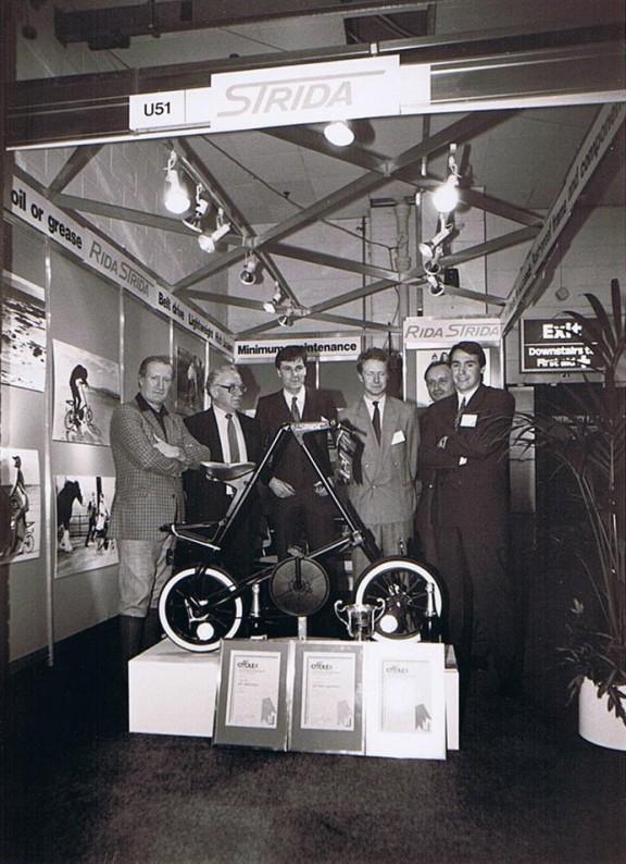 Strida 1 на выставке Cyclex в Великбритании в 1988 году