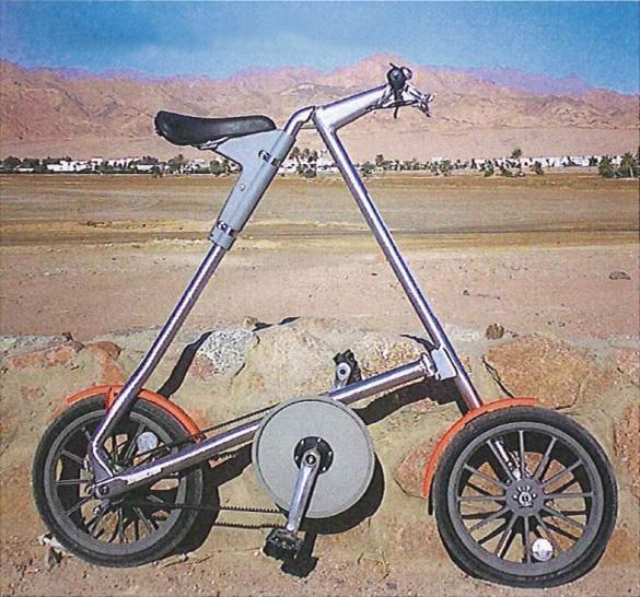 Видавший виды велосипед Марка Сандерса (рост >190 см)