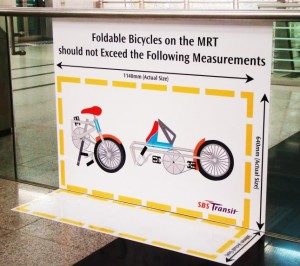 Шаблон для измерения складных велосипедов