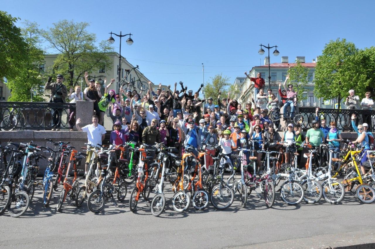 Большая встреча любителей складных велосипедов в Петербурге